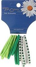 Духи, Парфюмерия, косметика Резинки для волос 12 шт, зеленые mix - Top Choice