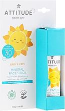 Духи, Парфюмерия, косметика Солнцезащитный стик для лица - Attitude Mineral Face Stick SPF 30