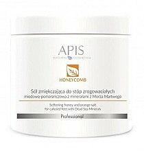 Духи, Парфюмерия, косметика Смягчающая солевая ванна для ног - APIS Professional Softening Honey And Orange Salt