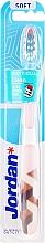 Духи, Парфюмерия, косметика Зубная щетка мягкая Individual Clean, бело-бежевая - Jordan Individual Clean Soft