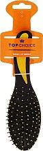 Духи, Парфюмерия, косметика Расческа для волос овальная, 2014, черно-желтая - Top Choice