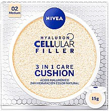 Духи, Парфюмерия, косметика Тональный кушон - Nivea Hyaluron Cellular Filler 3in1 Care Cushion SPF 15