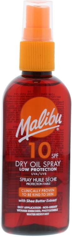 Сухое масло для загара - Malibu Dry Oil Spray Low Protection Very Water Resistant SPF 10 — фото N1