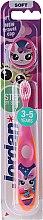 Духи, Парфюмерия, косметика Детская зубная щетка Step 2 (3-5) мягкая, оранжево-розовая - Jordan