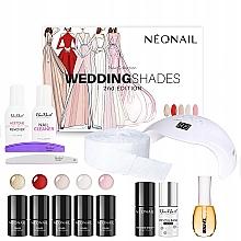 Духи, Парфюмерия, косметика Набор - Neonail Professional Wedding Shades Set (n/polish/5x3ml + n/base/7.2ml + n/top/7.2ml + lamp/1pc + n/cleaner/50ml + n/remover/50ml + n/pads/250pcs + nail/file/2pcs + n/oil/15ml + buffer/1pcs + n/cleaner/50ml)