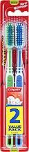 Духи, Парфюмерия, косметика Зубная щетка, зеленая + синяя - Colgate Double Action Medium Toothbrushes