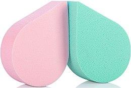 Духи, Парфюмерия, косметика Спонжи для макияжа, 35814, зеленый + розовый - Top Choice
