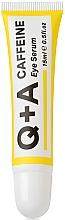 Духи, Парфюмерия, косметика Сыворотка для области вокруг глаз - Q+A Caffeine Eye Serum