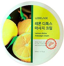 Духи, Парфюмерия, косметика Массажный крем для тела - Lebelage Lemon Detox Massage Cream