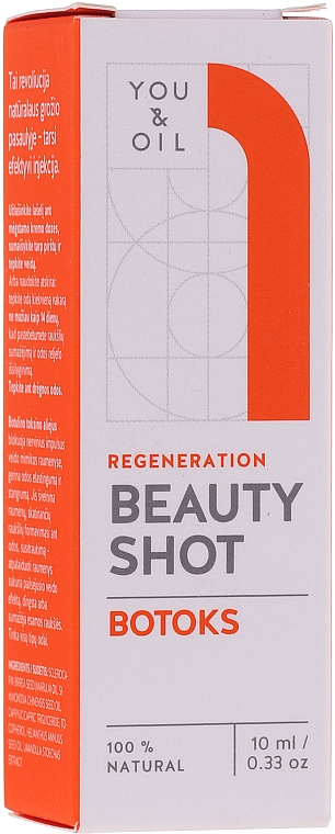 Сыворотка для лица - You & Oil Beauty Shot Botoks Oil / Regeneration Face Serum — фото N1