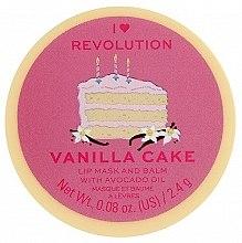 Духи, Парфюмерия, косметика Бальзам-маска для губ - I Heart Revolution Vanilla Cake Lip Mask & Balm