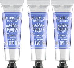 Духи, Парфюмерия, косметика Набор - Institut Karite Shea Hand Cream (h/cr/3x30ml)