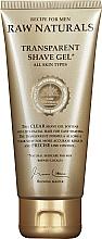 Духи, Парфюмерия, косметика Прозрачный гель для бритья - Recipe For Men RAW Naturals Transparent Shave Gel