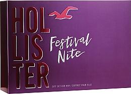 Духи, Парфюмерия, косметика Hollister Festival Nite For Her - Набор (edp/100ml + b/lot/100ml + acc)
