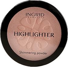 Духи, Парфюмерия, косметика Осветляющая компактная пудра - Ingrid Cosmetics HD Beauty Innovation Shimmer Powder