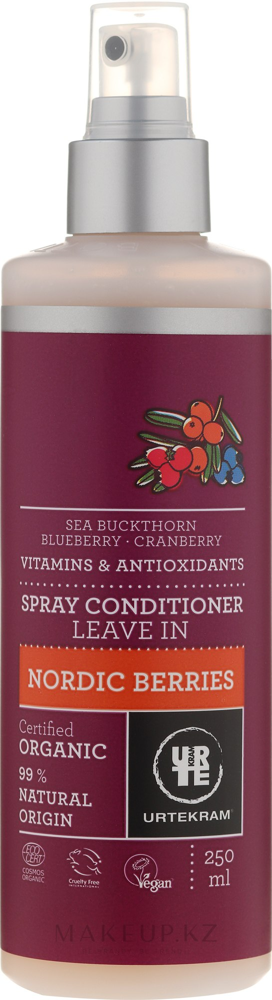 """Спрей-кондиционер для волос """"Северные ягоды"""" - Urtekram Nordic Berries Spray Conditioner Leave In — фото 250 ml"""
