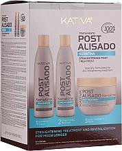 Духи, Парфюмерия, косметика Набор - Kativa Straightening Post Treatment Keratin (shm/250ml + cond/250ml + mask/250ml)