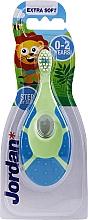 Духи, Парфюмерия, косметика Детская зубная щетка Step By Step, 0-2 года, салатово-синяя - Jordan Step By Step Extra Soft
