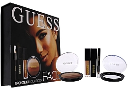 Духи, Парфюмерия, косметика Набор - Guess Beauty Face Lookbook Beauty 101 Bronze (lipstick/4.1ml + eye/sh/7g + mascara/4ml + eyeliner/0.5g)
