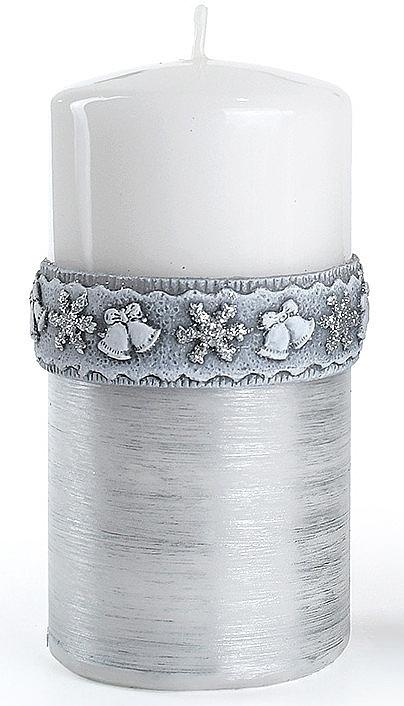 Декоративная свеча, белая, 7x14 см - Artman Christmas Time — фото N1