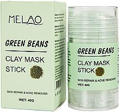"""Духи, Парфюмерия, косметика Маска-стик для лица """"Green Beans"""" - Melao Green Beans Clay Mask Stick"""