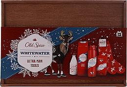 Духи, Парфюмерия, косметика Набор - Old Spice Whitewater Wooden (deo/50g + sh/gel/250ml + ash/lot/100ml + deo/spray/150ml)