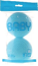 Духи, Парфюмерия, косметика Набор мочалок, 2 шт, голубые - Suavipiel Baby Soft Sponge