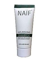 Духи, Парфюмерия, косметика Пительный шампунь для волос - Naif Nourishing Shampoo (мини)