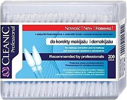 Духи, Парфюмерия, косметика Ватные палочки для снятия макияжа, 200 шт. - Cleanic Professional