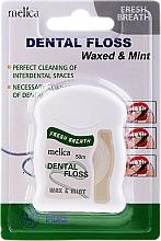 Духи, Парфюмерия, косметика Зубная нить со вкусом мяты - Melica Organic Dental Floss Waxed & Mint