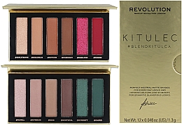 Духи, Парфюмерия, косметика Набор - Makeup Revolution Kitulec #BlendKitulca Shadow Palette (2xsh/palette/7.8g)