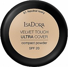 Духи, Парфюмерия, косметика Пудра для лица - IsaDora Velvet Touch Ultra Cover Compact Powder SPF 20 (61 -Neutral Ivory)