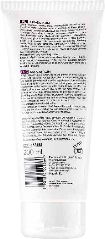 Маска для лица c экстрактом слывы - APIS Professional Kakadu Plum Cream (туба) — фото N2