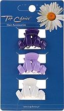 Духи, Парфюмерия, косметика Заколка для волос 24122, белая, фиолетовая, синяя - Top Choice