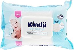 Духи, Парфюмерия, косметика Салфетки влажные для детей - Cleanic Kindii Skin Balance
