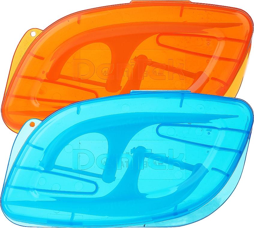 Набор Флосс-зубочистки + 2 дорожных футляра, оранжевый + голубой - Dentek Moulthwash Blast — фото N2