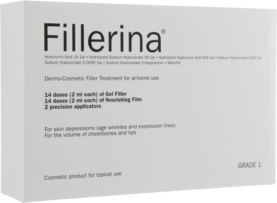 Дермато-косметическая система, уровень 1 - Fillerina Dermo-Cosmetic Filler Treatment Grade 1 (gel/30ml + cr/30ml + applicator/2szt) — фото N1
