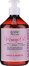 Духи, Парфюмерия, косметика Масло для массажа - Eco U Massage Oil Sweet Almond Oil