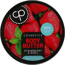 Духи, Парфюмерия, косметика Увлажняющее масло для тела с экстрактом клубники и базилика - Cosmepick Body Butter Strawberry & Basil