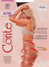 "Духи, Парфюмерия, косметика Колготки ""Active Soft"" 20 Den, shade - Conte"