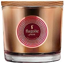 "Духи, Парфюмерия, косметика Ароматическая свеча в стакане ""Имбирный пряник"" - Flagolie Fragranced Candle Gingerbread"