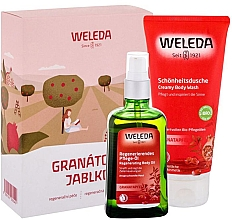 Духи, Парфюмерия, косметика Набор - Weleda Pomegranate (b/oil/100ml+sh/cr/200ml)