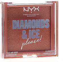 Духи, Парфюмерия, косметика Хайлайтер для лица и тела - NYX Professional Makeup Diamonds & Ice Face And Body Illuminator