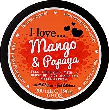 """Духи, Парфюмерия, косметика Питательное масло для тела """"Манго-папайя"""" - I Love... Mango & Papaya Nourishing Body Butter"""