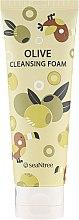 Духи, Парфюмерия, косметика Очищающая пенка для лица с оливой - SeaNtree Olive Cleansing Foam