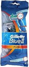 Духи, Парфюмерия, косметика Набор одноразовых станков для бритья, 5шт - Gillette Blue II Plus