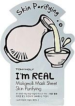Духи, Парфюмерия, косметика Листовая маска для лица - Tony Moly I'm Real Makgeolli Mask Sheet
