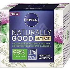 Духи, Парфюмерия, косметика Ночной крем против морщин - Nivea Naturally Good Anti Age Night Cream Organic Burdock Extract