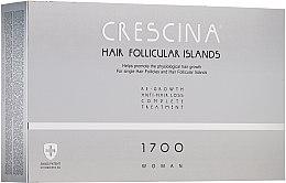 Духи, Парфюмерия, косметика Комплекс для лечения выпадения волос для женщин - Crescina Hair Follicular IslandRe-Growth+Anti-Hair Loss HFI 1700 Woman