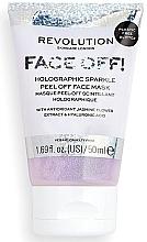 Духи, Парфюмерия, косметика Пилинг-маска для лица - Revolution Skincare Face Off! Holographic Sparkle Peel Off Face Mask